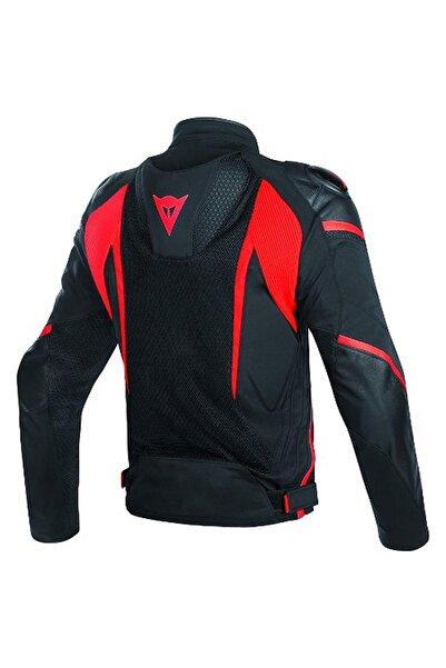 Dainese Super Rider D-dry Korumalı Motosiklet Montu Black-black-red Fluo