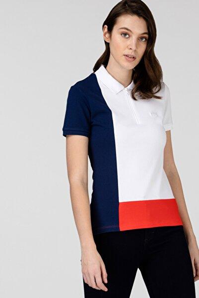 Lacoste Kadın Fermuarlı Yaka Renk Bloklu Renkli Polo PF0104