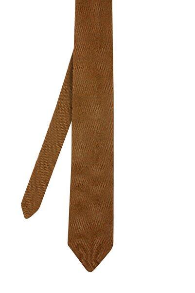 Hemington Erkek Koyu Sarı Örgü Kravat