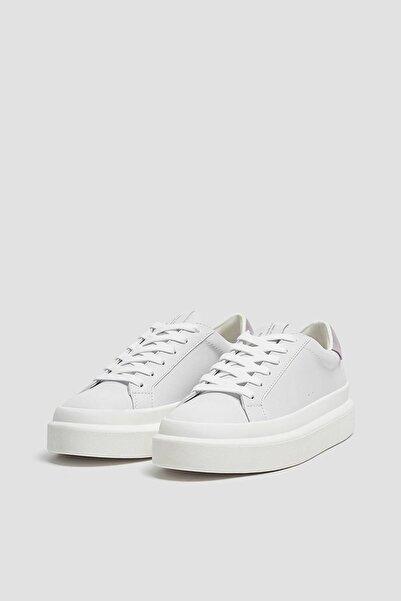 Pull & Bear Kadın Beyaz Casual Kalın Tabanlı Spor Ayakkabı 11206740