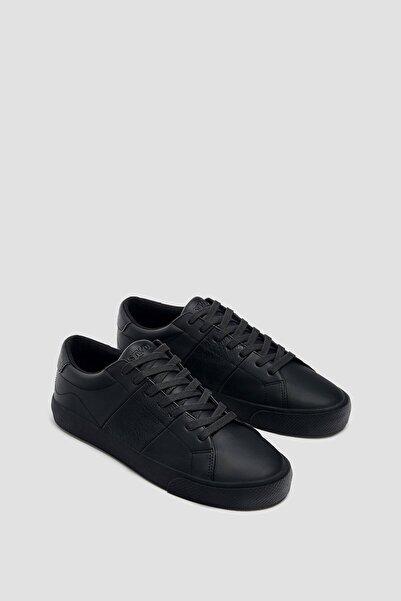 Pull & Bear Erkek Siyah Casual Tek Renk Spor Ayakkabı 12210740