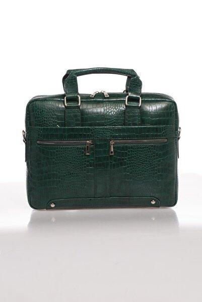 Sergio Giorgianni Luxury Mpist9141 Kroko Yeşil Unısex Evrak Çantası