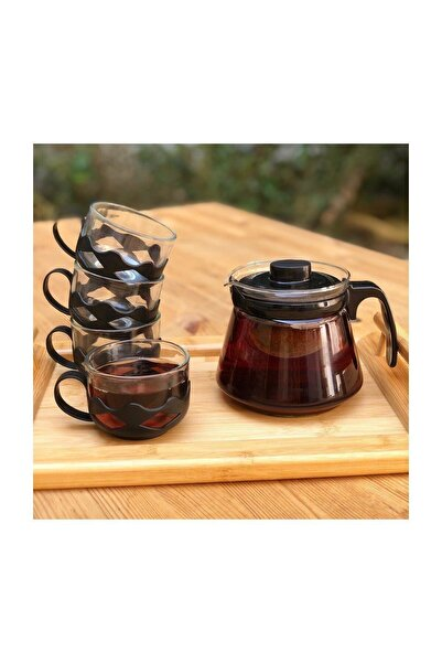 Bambum Siyah Guardo 5 Parça Çay Seti 600 ml