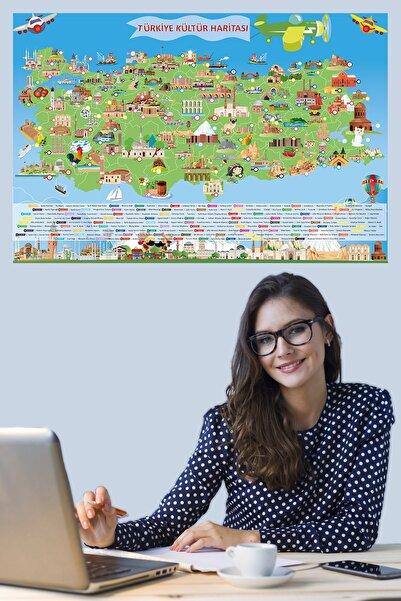 Tutunabilir Kağıt Türkiye Kültür Haritası Akıllı Kağıt Tahta Yazı Tahtası Dekoratif 150x95 Cm