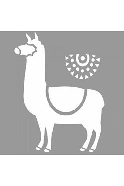 Artikel Alpaca Stencil Tasarımı 30 X 30 Cm