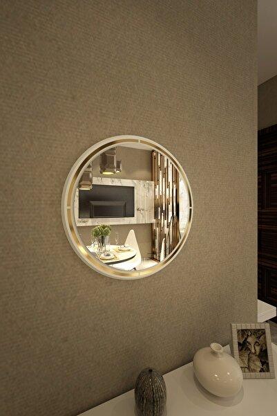 İkizlerçeyiz Armoni Dekoratif Konsol Aynası Beyaz 55cm