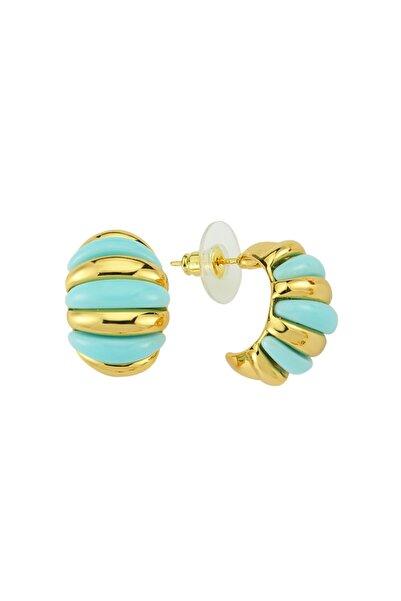 Luzdemia Turquoise Sliced Earring