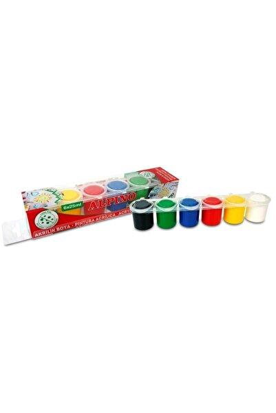 Alpıno 6 Renk 25ml Akrilik Boya Dv-002010