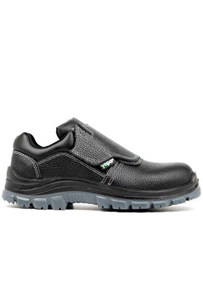 Yepa M-090 S2 Çelik Burunlu Kapaklı Kaynakçı Çok Amaçlı Iş Ayakkabısı Siyah Isıya Dayanıklı
