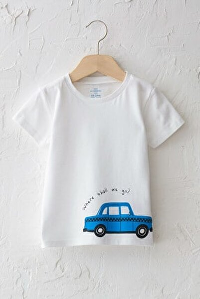Erkek Bebek Optik Beyaz E5X T-Shirt