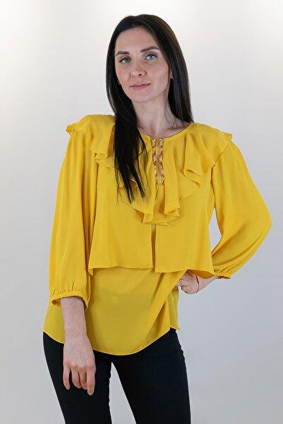 GİZİA Kadın Sarı Yaka Detaylı Bluz