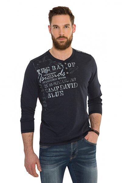 Camp David Erkek Uzun Kol Lacivert T-shirt