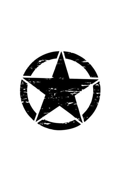 monero Yıldız Sticker Büyük Siyah 13 Cm.