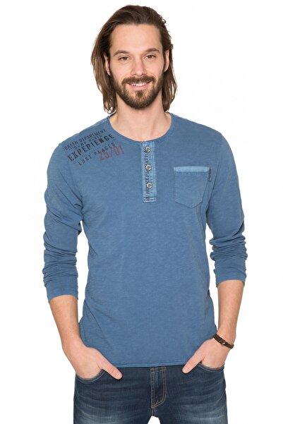 Camp David Erkek Mavi T-shirt