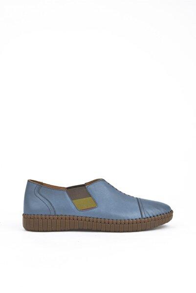Ziya , Kadın Hakiki Deri Ayakkabı 111415 Z394034 Mavı