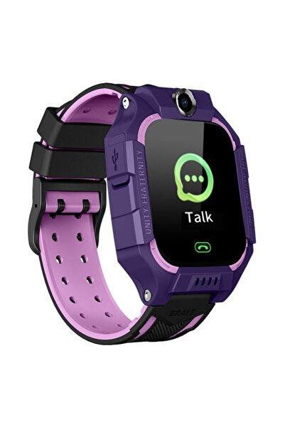 Smartberry Akıllı Çocuk Saati Konum Takipli Sim Kart Girişli Lbs Ve Sos Özellikli-lila