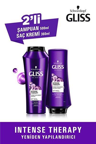 Gliss Intense Therapy Yeniden Yapılandırıcı Set (Şampuan 500 ML + Saç Kremi 360 ML)