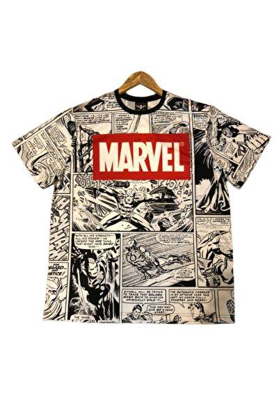 Lucky Boy Unisex Siyah Marvel T-shirt