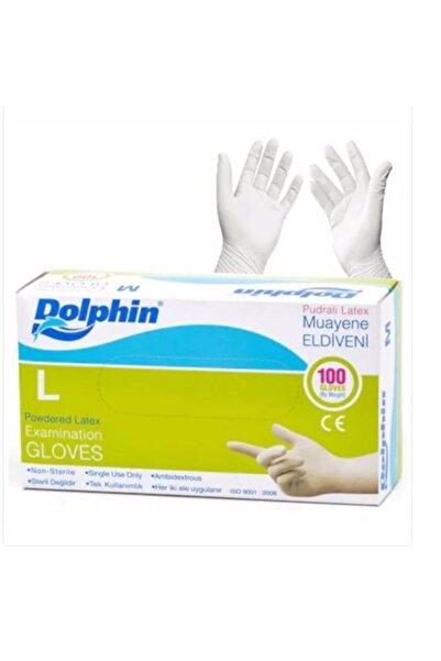 Dolphin Pudralı Lateks Eldiven ( L Beden)