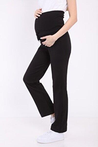Kadın Siyah Beli Ayarlanabilir Hamile Günlük Ev Pantolonu  Myra8500
