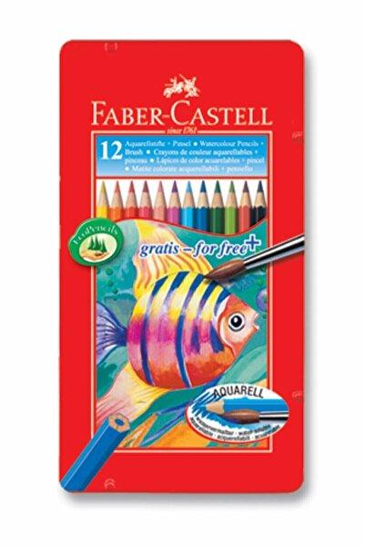 Faber Castell Faber-castell Aquarel Boya Kalemi 12 Renk Metal Kutu 5170115929000