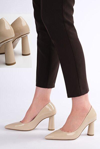 Marjin Kadın  Bej Stiletto Topuklu Ayakkabı