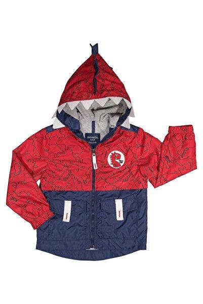 Midimod Erkek Bebek Yağmurluk Mont Trençkot 6-24 Ay Kırmızı M19165