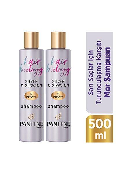 Pantene Hair Biology Turunculaşma Karşıtı Silver Mor Şampuan Sarı ve Gri Saçlar İçin 250ml X2
