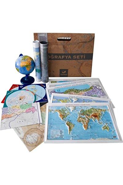 Gürbüz Yayınları Harita Küre  Coğrafya Seti 14 Parça