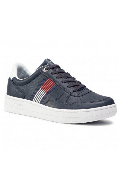 Tommy Hilfiger Erkek Mavi Sneaker Basket Low Cupsole Sneaker FM0FM02843