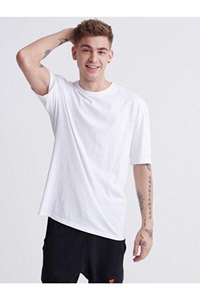 SUPERDRY Outletbul %100 Pamuk Basic Beyaz Tshirt