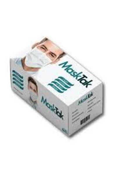 masktak 3 Katlı Telli Cerrahi Maske 1 Kutu 50 Adet Kutu Burun Lastikli Kokusuz 8682689649521