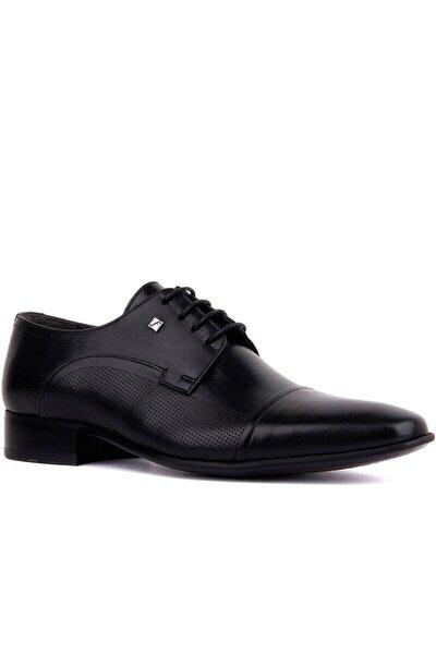 Fosco Erkek Siyah Bağcıklı  Deri  Klasik Ayakkabı 2239 114