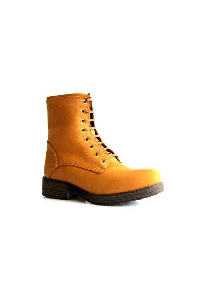 Beta Shoes Kadın Hakiki Deri Bot Sarı