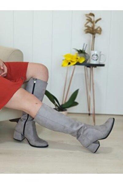 Afra Füme Renk Kadın Çizme