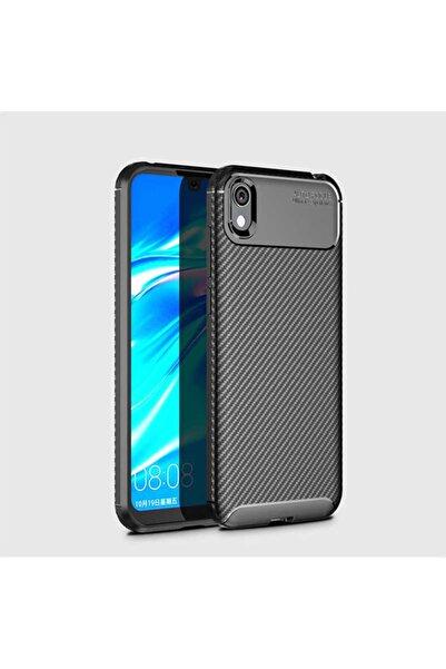 Huawei Y5 2019 Kılıf Karbon Fiber Tasarımlı Dayanıklı Negro Model