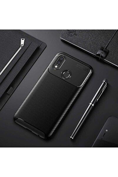 Huawei P20 Lite Kılıf Karbon Fiber Tasarımlı Dayanıklı Negro Model