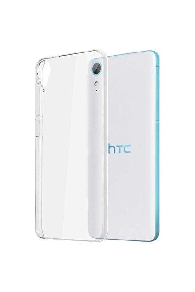 HTC Desire 820 Kılıf Şeffaf Tam Koruma Esnek Süper Silikon Model