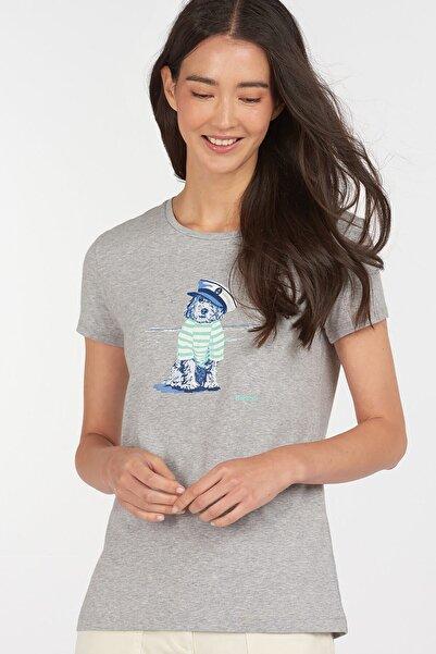 Barbour Kadın Gri Baskılı T-Shirt