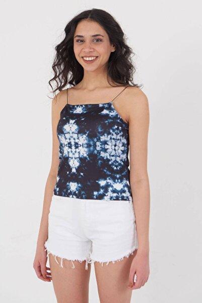 Addax Kadın Batik Ince Askılı Bluz P12237 Adx-0000023905