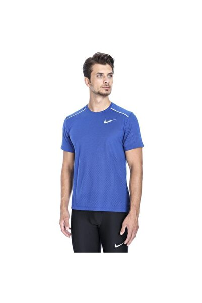 Nike Erkek Mavi Koşu Tişört Brthe Rise 365 Aq9919-438