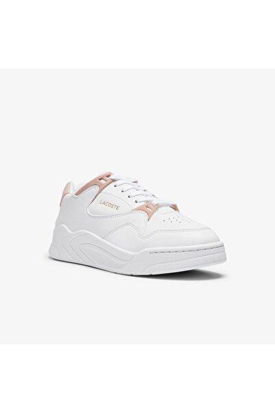 Lacoste Court Slam 0721 1 Sfa Kadın Beyaz - Açık Pembe Sneaker 741SFA0076