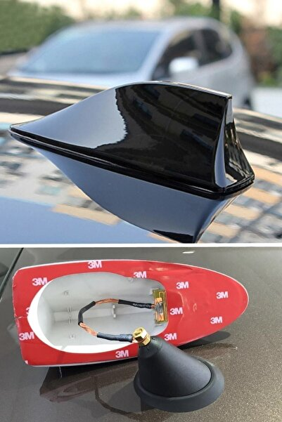 Z Tech Elektrikli Her Araca Uygun Siyah Shark Köpek Balığı Balina Tavan Anteni