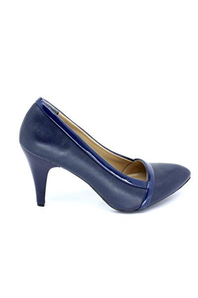 PUNTO Kadın Lacivert Günlük Z Topuklu Ayakkabı