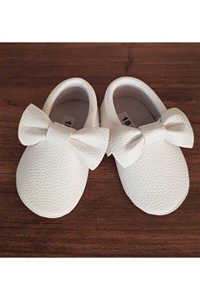 La Boutique BB Kız Bebek Fiyonklu Beyaz Makosen