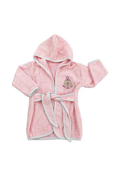 bebegen Kız Çocuk Denizci Pembe Dümenli Bornoz