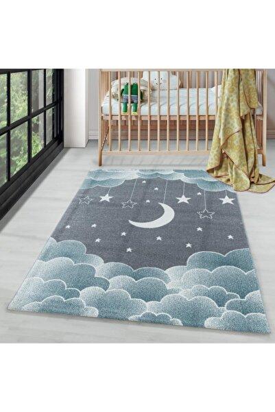 AYYILDIZ Bebek Odası Bulut Ay Yıldız Desenli Halı
