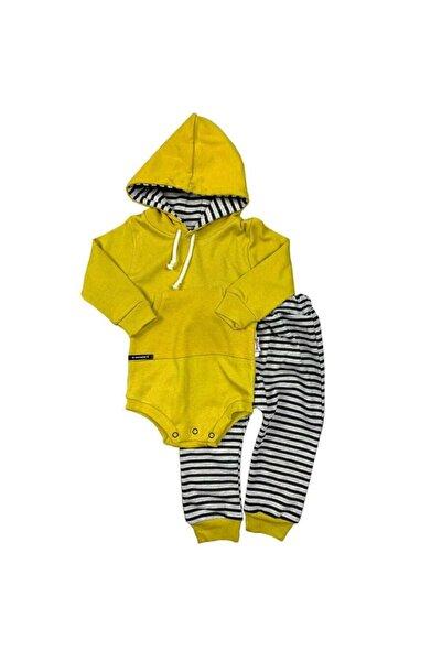bebegen Erkek Bebek Gri Kapüşonlu Altuni Gri Zıbınlı  Bebek Takım