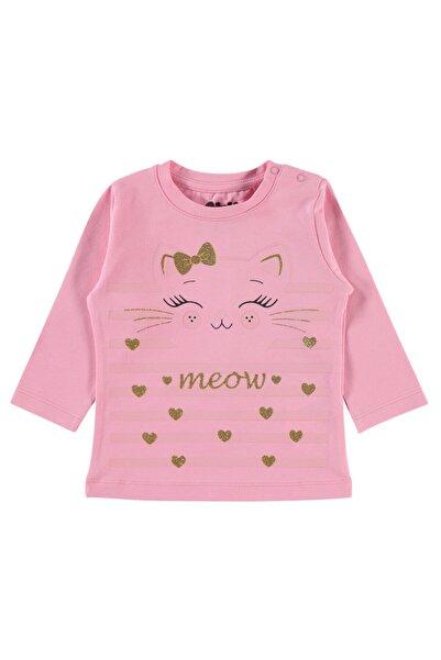 Civil Baby Kız Bebek Pembe Desenli Tişört