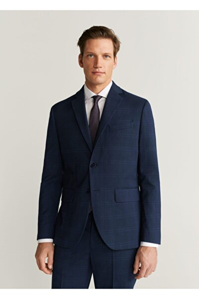 MANGO Man Erkek Lacivert Blazer Ceket